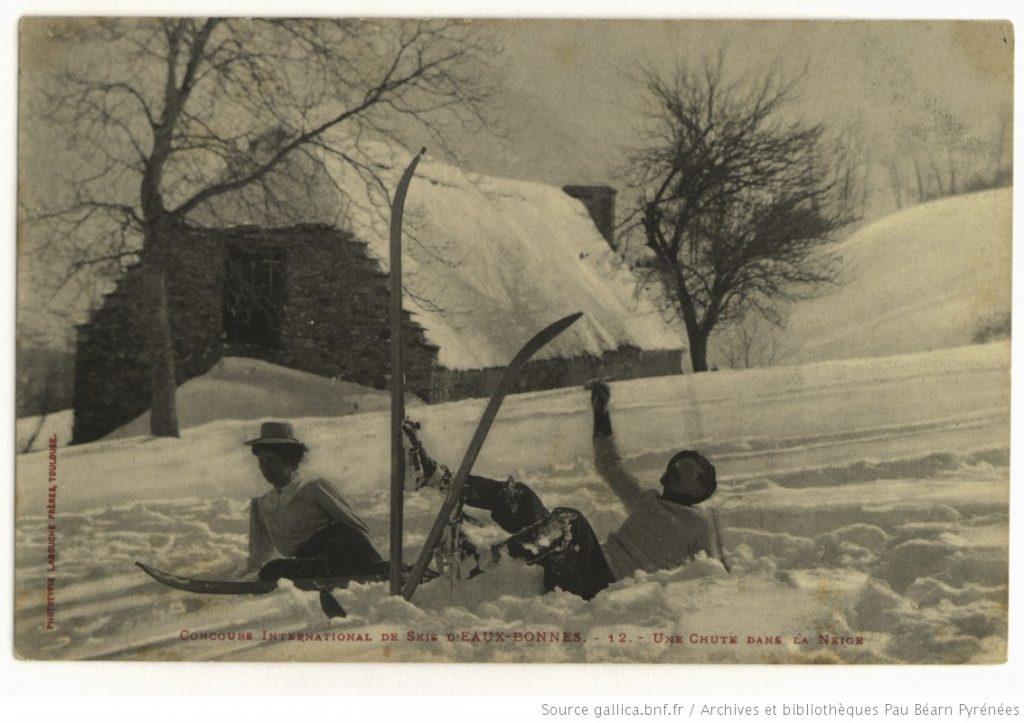 chute dans la neige